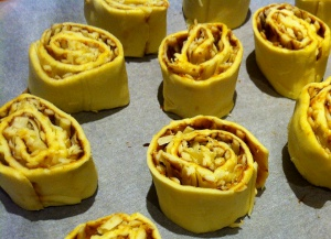 Pinwheels ready to cook